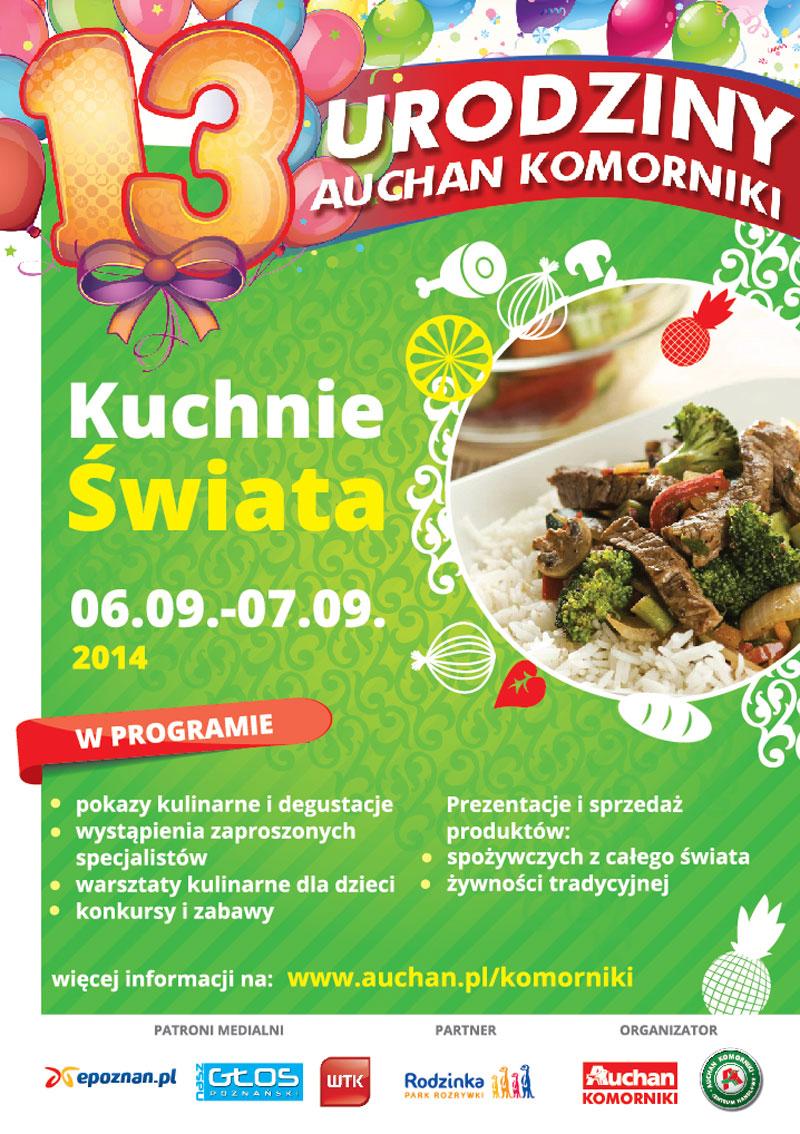 Kuchnie Swiata 13 Urodziny Auchan Komorniki Nasz Glos Poznanski